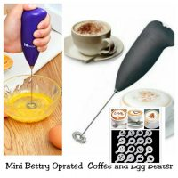 Coffee and Egg Beater & 2 Set 16 Pcs Coffee Design Maker