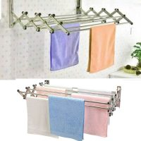 Expandable Clothes Drying Towel Rack Laundry Hanger