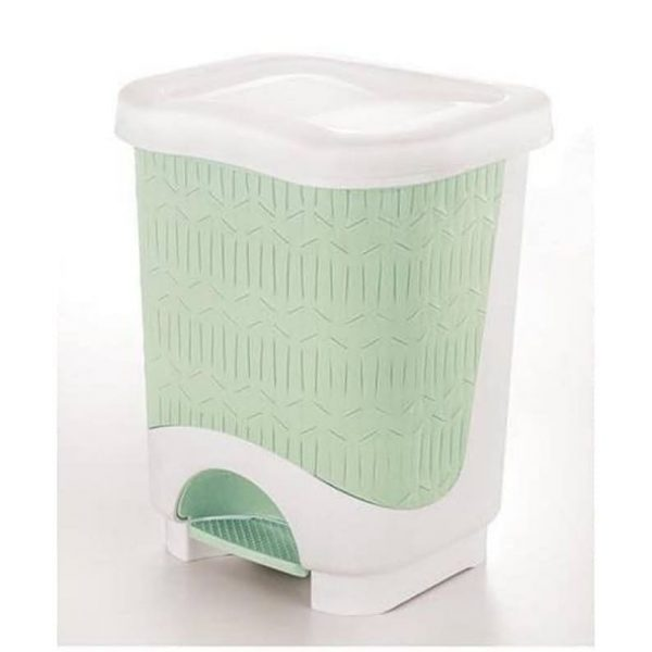 Limon Bamboo Rectangle Dustbin With Pedal