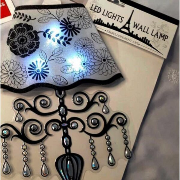 Pack Of 2 Led Lights Wall Sticker For Home Decoration