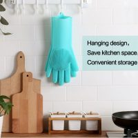 Silicone Magic Cleaning Gloves With Wash Scrubber (Pair) 2