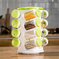 16 In 1 Spice Rack With Cutlery Holder Compact Jars Shelf Organizer