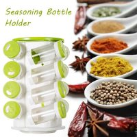 16 In 1 Spice Rack With Cutlery Holder Compact Jars Shelf Organizer 2