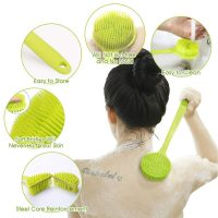 Long Handle Soft Silicone Shower Brushes for Men and Women