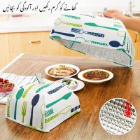 Set of 2 Thermal-FOLDABLE-portable-lightweight and stylish food cover FOOD COVERS to keep food warm and pollution-free.
