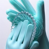 Silicone Magic Cleaning Gloves With Wash Scrubber (Pair)