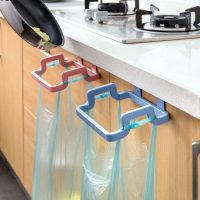 2Pcs Cabinet Stand Trash Garbage Bags Support Holder