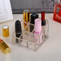 Lipstick Organizer Acrylic Crystal With 9 Grids Store