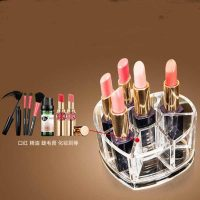 Cosmetic Organizer Acrylic Heart Shaped With 8 Grids Store 2
